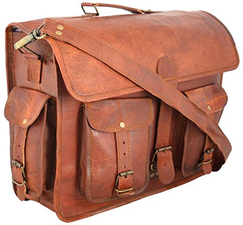 "Messenger of Leather , Borsa Messenger  marrone Brown 12"" x 16"" x 5"" Brown"