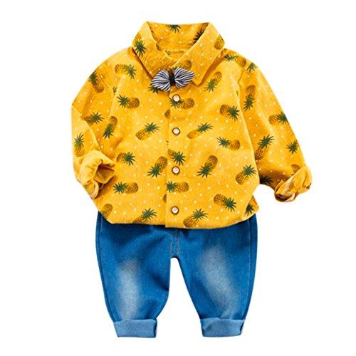 RWINDG Unisex Baby Bekleidung mit Spruch 2er Set Kleine Prinzessin Strampler Jungen Kaninchen Bogen...