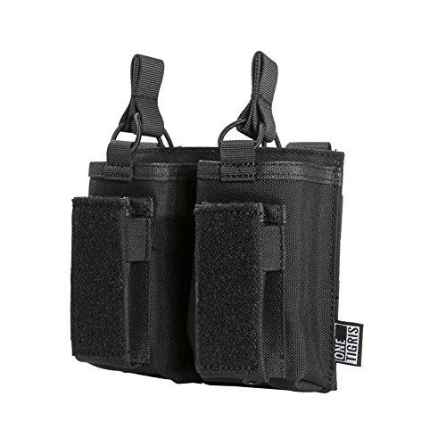 OneTigris Taktische MOLLE Magazintasche/Mag Pouch für M4/M16/AR/AK/G36/ Glock/M1911/ 92F |MEHRWEG Verpackung (Schwarz)