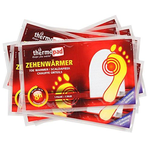 THERMOPAD Zehenwärmer, 10 Paar, 8 Stunden Wärme, extra dünn