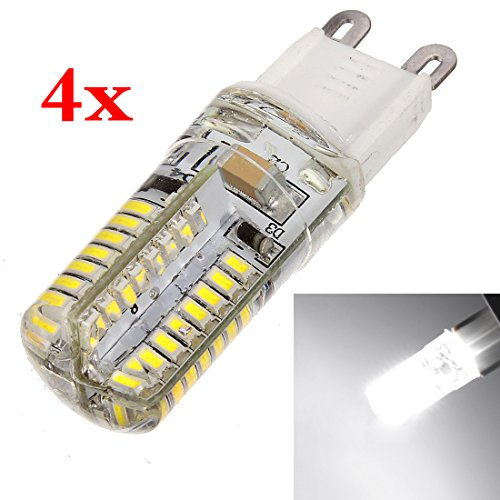 4 Bombillas LED luz blanca - 3W potencia - Base G9
