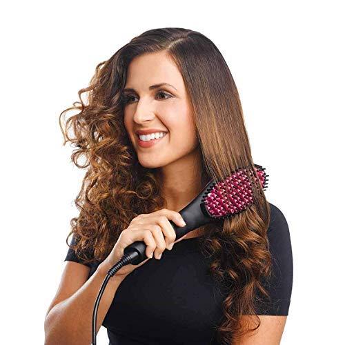 Buyerzone Ceramic Black Hair Straightener Brush