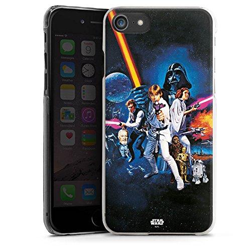 Apple iPhone 7 Hülle Premium Case Cover Star Wars Merchandise Fanartikel Episode IV Hard Case transparent