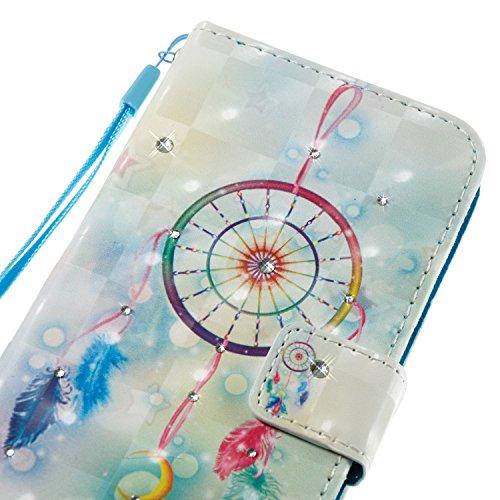 Cover Huawei P9 Lite 2016, Custodia Huawei P9 Lite 2016, Sunroyal [RFID Blocco Portafoglio] Bling Diamante Custodia 100% da del Raccoglitore Manofatto Basamento per Carta di Credito Copertura protetti Modello 25