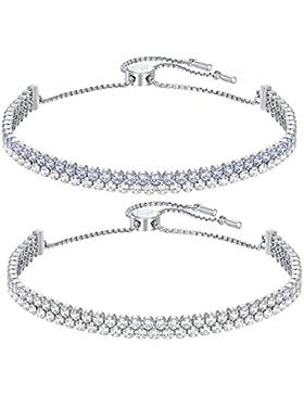 Swarovski Damen-Armband Platiniert Kristall mehrfarbig Rundschliff-5253055