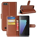 Casefirst Doogee X30 Case Luxury PU Leather Wallet Flip Protective Skin Case Cover with Card Slots and Stand for Doogee X30 Brown