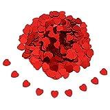 Ndier Decorazione della Tabella dei coriandoli di Cerimonia Nuziale del Cuore di Amore di Scintilla Romantica di 10MM Multicolore Rosso
