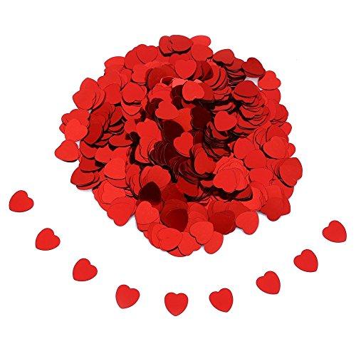 Ndier decorazione della tabella dei coriandoli di cerimonia nuziale del cuore di amore di scintilla romantica di 10mm rosso