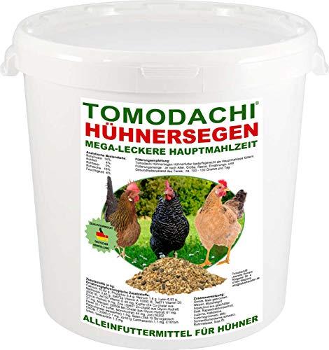 Hühnerfutter, Vollwertfutter Huhn, Komplettnahrung, Naturprodukt, artgerecht, calziumreich, für dickschalige Eier, reich an Omega-3 Fettsäuren, natürlicher Immunschutz, deutsche Qualität 5kg Eimer