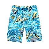 Honeystore Herren Strand Shorts Schnell Trocknend Schwimmhose Surfen Shorts Sommer Boardshorts One Size HS03