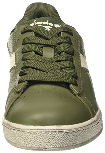 Diadora Game L Waxed, Scarpe Low-Top Unisex – Adulto Verde (Verde Olivina/Bianco Sospiro)