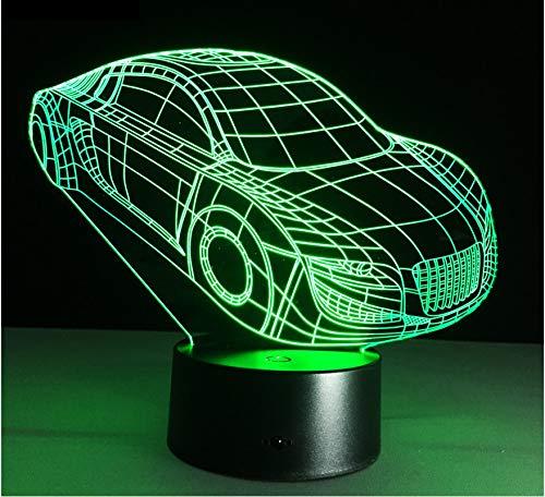 luci notturne regalo motor sports cool car automobile forma 3d deco luce usb carica interruttore lampada colorata night light per lo sport regalo del ragazzo