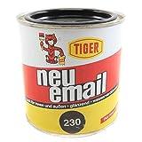 Acryllack Tiger neu-email Buntlack schwarz 230 glänzend 0,375l