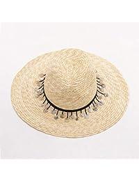 TtKj Eaves Grande Signora Paglia Cappello retrò Elevato Top Si precipita Il Cappello  di Paglia a 19d33c16ff9a