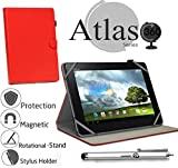 Navitech 10 Zoll Rotes Case / Cover mit 360 Grad Rotierbare Stand Funktion und Stylus Pen für das Acer Iconia Tab 10 A3-A20 / Hp Pailion 2 / Toshiba Encore 2 10