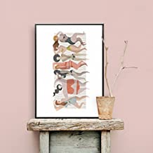 Lámina poster decorativo Basq 50x70. Edición limitada. Diseño exclusivo, de autor. Estilo moderno, nórdico, contemporáneo.