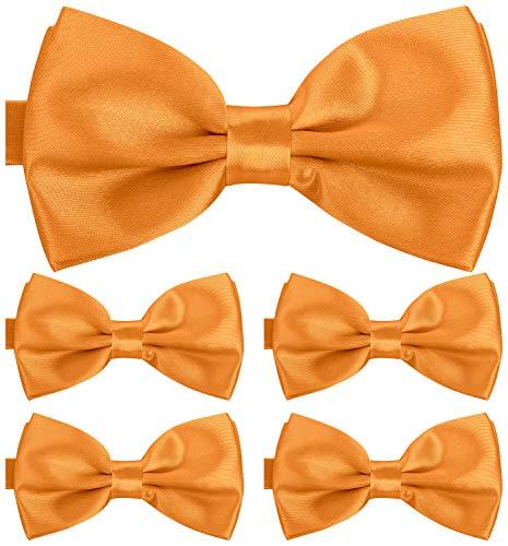 BomGuard Fliege für Herren gelb I Männer Fliege für Hochzeit, Party oder edele Anlässe I Trendy Bow Tie I 5er Set Schleifen