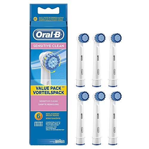 Oral-B Sensitive Aufsteckbürsten, für eine sanfte Reinigung am Zahnfleischrand, 6 Stück