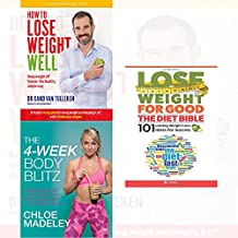 transform your body shape 4-week body blitz, how to lose weight well, diet bible 3 books collection set - my complete diet, keep weight off forever, 101 lasting weight loss ideas for success