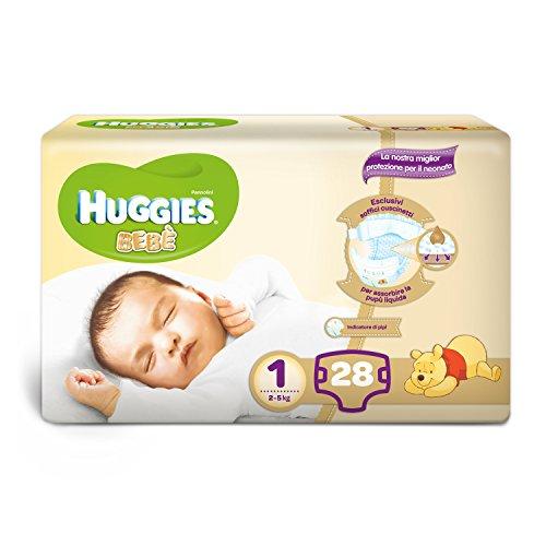 Huggies - Bebè Base - Pañales - Talla 1 (2 - 5 kg) - 28 pañales