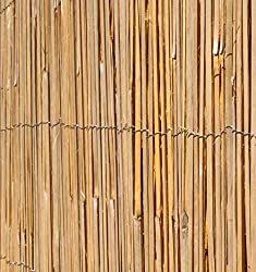 Papillon Bamboo Slat Natural Garden Fence Screening Roll Privacy Border Wind/Sun Protection 4.0 x 1.8m (13ft 1in x 5ft 11in)