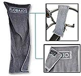 FloBaJo-Fit - GymTow Sporthandtuch, Fitness-Handtuch mit Doppeltasche und umgenähtem Kopfteil (Sleeve), 100% Baumwolle, 100 cm Länge, Antirutschfunktion, ideal für das Fitnessstudio