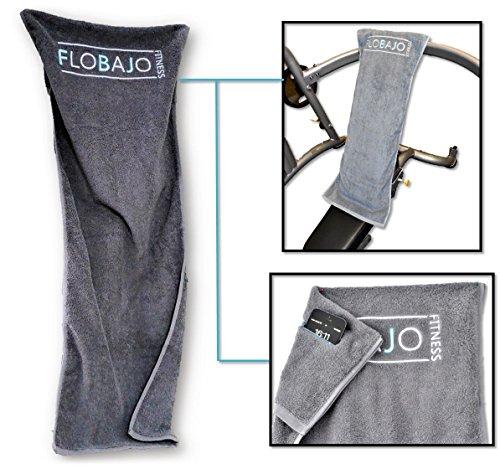 FloBaJo Fit   GymTow Sporthandtuch, Fitness Handtuch Mit Doppeltasche Und  Umgenähtem Kopfteil (
