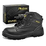 Botas de Seguridad Industriales para Hombres - safetoe 8179 Zapatos de Trabajo Elegantes con Puntera de Acero