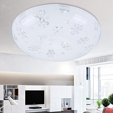 MINDAN Led luce di soffitto minimalista camera da letto rotondo di camere con balcone cucina pane corridoio lampade a libro , il simbolo del fiocco di neve 40cm 22W luce bianca