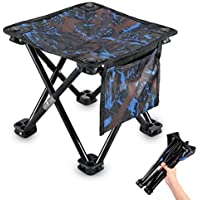 Kuyou Portable Folding Stool, 11.5 in / 13.3in Camping Stool Heavy Duty 300 lb Folding Chair with Carry Bag for Outdoor Fishing,Hiking,BBQ,Beach and Garden