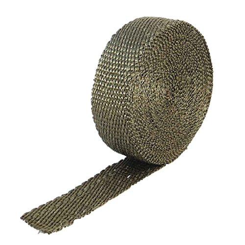Abgaskrümmer Isolierabdeckung Downpipe Verpackungs-Kabel Hitzebeständige Krawatten für Auto-Motorrad-Glasfaser Regard