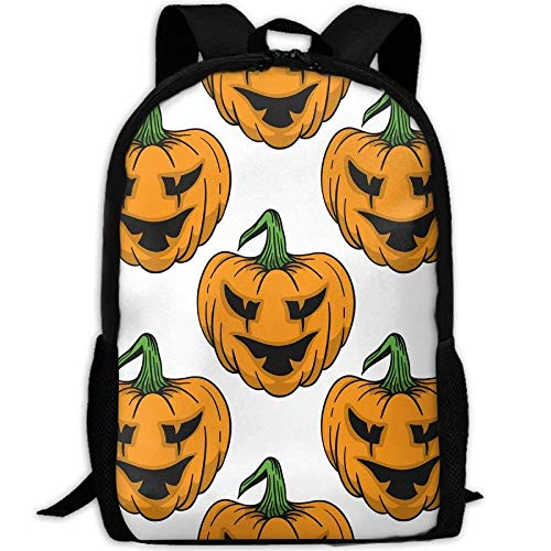 Fashion Pumpkin for Helloween Outdoor Shoulders Bag Fabric Backpack Multipurpose ypacks for Adult