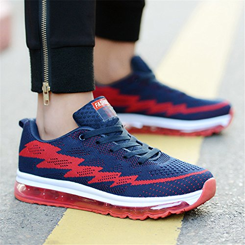 Unisexe Casual Chaussures Indoor Air Athletic Sneakers Fitness Casual Chaussures De Course Pour Hommes Femmes Bleu