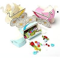 Moppi 100Baby Kinderwagen Form Geschenk-Box Hochzeit Baby Dusche Party Favor Dekoration Geschenk Boxen