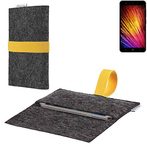 flat.design vegane Handy Hülle Aveiro für Leagoo Z7 passgenaue Filz Tasche Case Sleeve Made in Germany