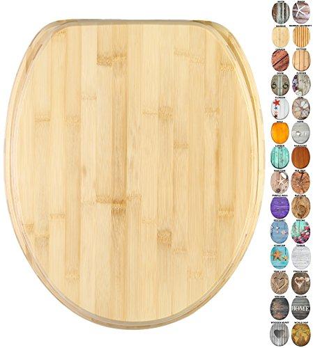 WC Sitz, viele schöne Holz WC Sitze zur Auswahl, hochwertige und stabile Qualität (Bambus)
