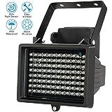 KKmoon 96 LEDS IR Illuminateur Lampes Infrarouges Tableau Vision Nocturne Extérieure étanche pour Caméra de Sécurité CCTV Noir