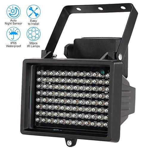 KKmoon IR-Strahler Licht 96 LEDS IR-Strahler CCTV-Kamera-Nachtsicht Night Vision Outdoor Wasserdicht für Überwachungskamera (Infrarot-licht Für Die Kamera)