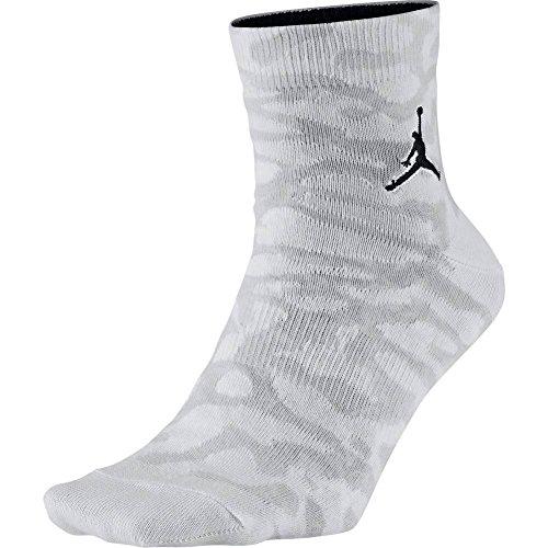 Jordan Socken - Elephant Quarter weiß/grau/schwarz Größe: 46 al 50 EU I 12-15 USA I 11-14.5 UK (Jordan 13 Socken)