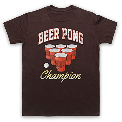 Beer Pong Champion Herren T-Shirt Braun