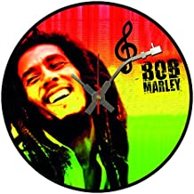BottleClocks Iconic Bob Marley Disco de vinilo reloj de pared