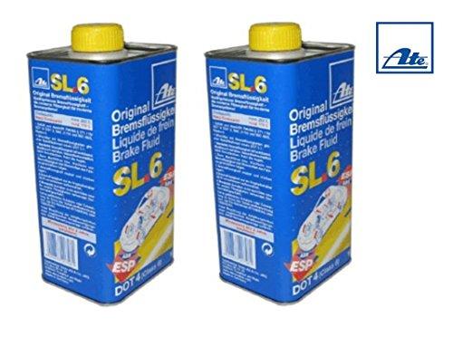 SET de 2 x 1 litre 03990164022 sL6 dOT4 liquide de frein aTE