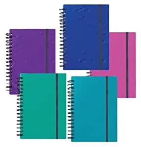 Snopake A6 Note Guard Hard Back Note Books in Electra - Assorted (Pack of 5)