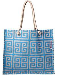 Jute Bag For Grocery,Shopping,Lunch Bag,Gift Bag ,Multi Purpose Bag Sky Blue