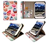 Sweet Tech Archos 70 Platinum 3G 7 inch Tablet Petit Gâteau Universel 360° Rotation Étui Coque Housse avec Fentes de Cartes (7-8 Pouces) de