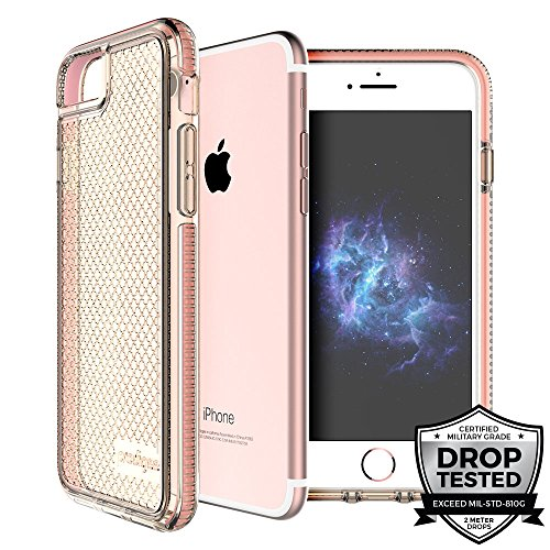 Prodigee [Safetee Pink Rose for iPhone 8/7 / 6 / 6s Certified Drop Shock Test schlank Handyhülle Fall Schutz Protective Cover Cover 2 Meter Militär Drop Test Zertifiziert