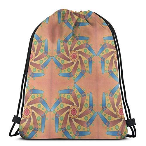 Boomerang Sun Mandala_2850 Rucksack Rucksack Umhängetaschen Leichte Sporttasche zum Wandern Yoga Gym Schwimmen Travel Beach