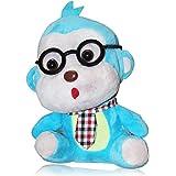 Super Cute Mini Glasses Tie Multi Color Monkey Plush Toy For Kids