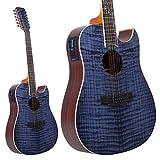 Lindo Sternzeichen 12saitige elektroakustische Gitarre mit Vorverstärker und chromatisches Stimmgerät
