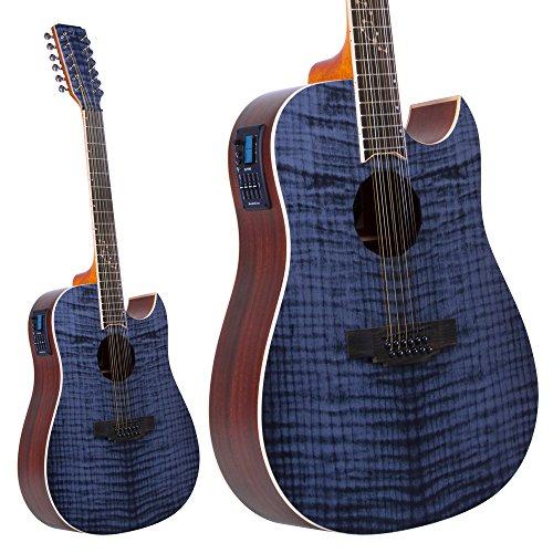 Lindo Zodiac–Guitarra electroacústica con preamplificador y afinador cromático de 12